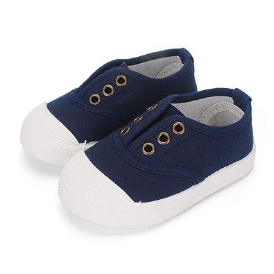 LACOFIA Scarpe di Tela Scuola per Bambini Sneakers Casual per Bambino