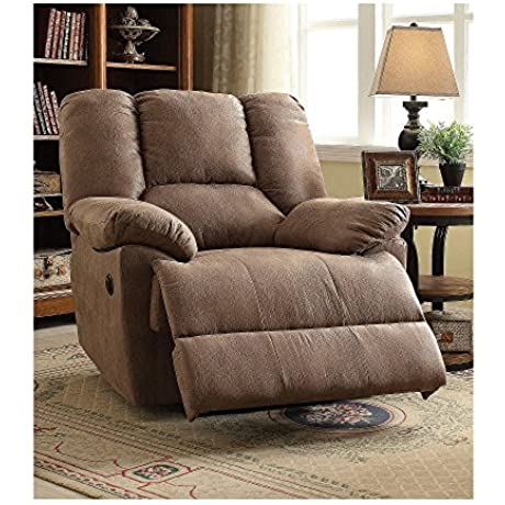 ACME Furniture 59423 Oliver Recliner Power Motion Light Brown Polished