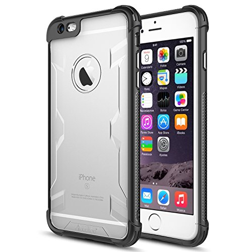 iPhone 6s plus Case,iPhone 6 plus Case,Atouchbo [Shock Reduction] Reinforced Corner TPU Bumper + Hard PC Back Cover Military Grade Extreme Drop Tested Heavy Duty Protective Cover - Black
