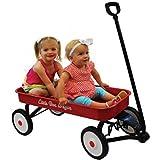 """Little Box Heavy-Duty Steel 34"""" Kids Ride-On Metal Wagon"""