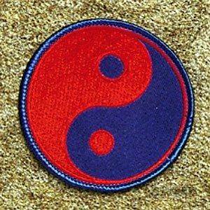 - AWMA Yin & Yang Red Blue Patch