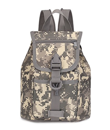 Mochila Military Camo Small Backpacks Drawstring Water Resistant Bags for Womens and Mens 10L