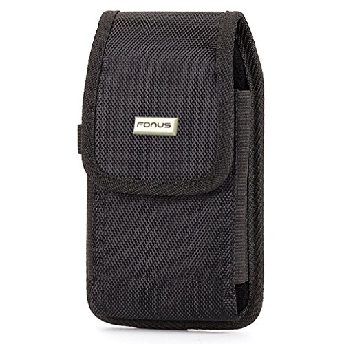 Heavy Duty Rugged Canvas Case Cover Pouch Holster with Swivel Belt Clip for Verizon LG G Pro Lite