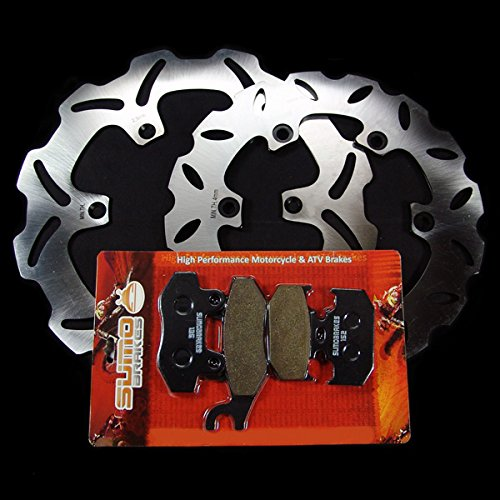 Sumo - Yamaha Front + Rear Brake Disc Rotor + Pads for YZ125 (92-97) YZ250 (92-97) YZ250 WR (90) WR125 K (98) WR250 Z (92-97) Motorcycle