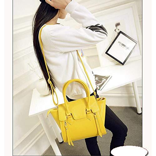 Las Los Señoras De El Diseñaron Bolsos Yellow Moda Asas La Mensajero Bolso Del Mujeres Bolsa rTTqExt