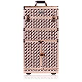 SHANY REBEL Series Pro Makeup Artists Rolling Train Case - Trolley Case - ROSE GOLD
