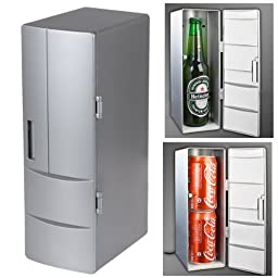 PsmGoods Set Cooling And Heating Functions As One Mini USB Powered Fridge For Beverage Drink Cans in Cubicle/Car and Home office Which Can Be Placed Within Two Drinks