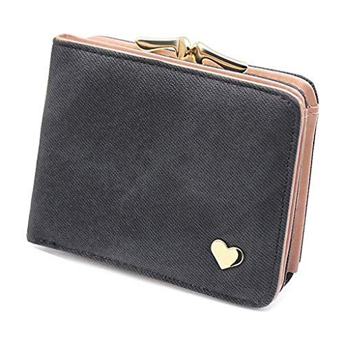 DZTZ Women Fashion Short Style Student Card Wallet Multi-Function Folding Coin Purse ()