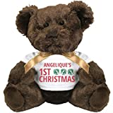 Jingle Bells Angelique's 1st Christmas: Small Plush Teddy Bear