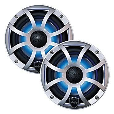Wet Sounds Revo6 6.5 200W Silver LED Full Range Marine Speakers (REVO-6-XSS)