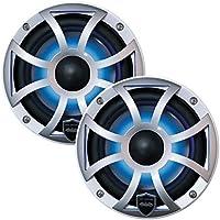 Wet Sounds REVO 6-XSS 6.5 200W Silver LED Coaxial Full Range Marine Speakers