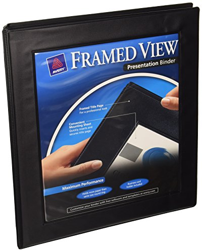 Avery Framed View Binder with 0.5 inch Gap Free Slant Ring,