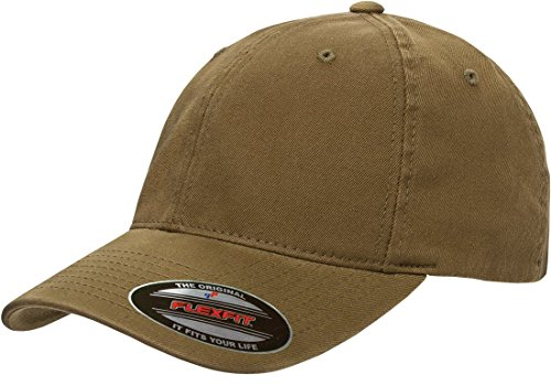 (Flexfit Low-profile Soft-structured Garment Washed Cap (Loden, Large/X-Large))