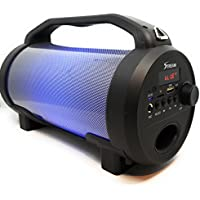 Bluetooth Portable Speaker with LED Lights and Remote by Stream 10.25in x 5.25in