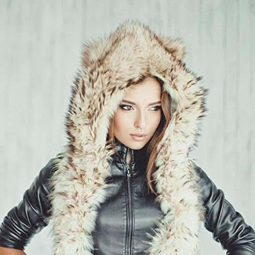 Amazon.com: Woman's Real Fur Raccoon Fur Hat Fancy Winter
