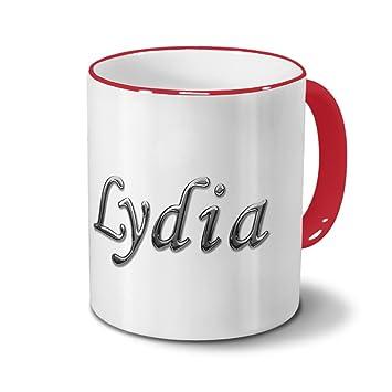 Tasse mit Namen Lisa Chrom-Schriftzug