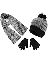 Boys Knit Hat, Scarf And Gloves Set (See More Colors)