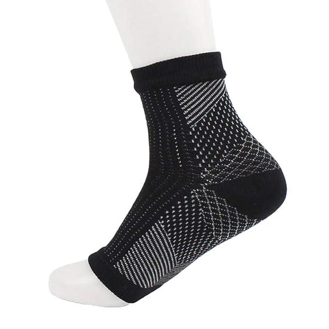FAMILIZO Calcetines Deporte Hombres Sólidos Mujeres Anti Fatiga Flexible Pie De Compresión Mangas Calcetines Cortos Tobilleros Antideslizantes: Amazon.es: ...