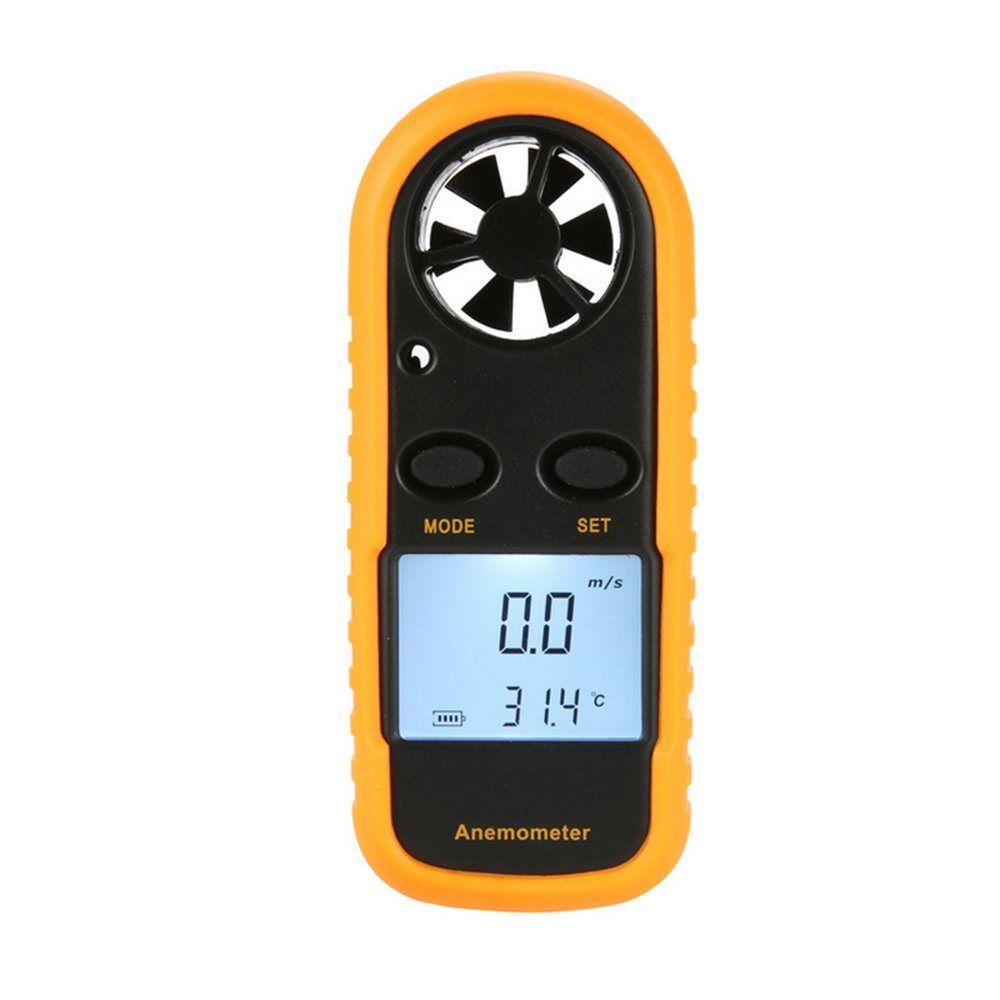 Dyna-Living Anemometer Sokos Digital LCD Wind Speed/Air Flow Thermometer with Backlight, Mini Size by Dyna-Living