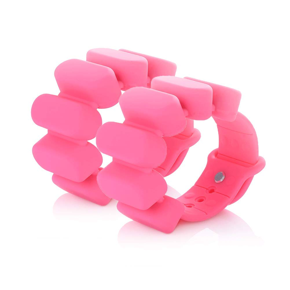 TOSAMC Durable Adjustable Wrist Weights - Wearable Weight Bracelet Intensify Fitness, Exercise, Walking, Jogging, Gymnastics, Aerobics, Yoga, Gym; 2pics Set. (Pink&Red, 1.2LB)
