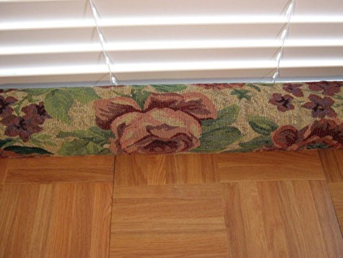 Door Draft Stopper Fabric Only Heavy Weight Rose Upholstery Fabric Custom Made 24