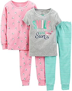 Baby Girls' 4 Piece Pant PJ Set (Baby) - Bear