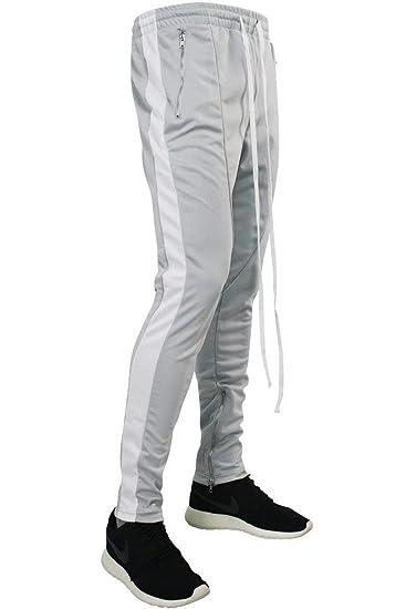 9d73811c Basic Essentials Side Stripe Zip Pocket Track Pants Grey - White (ZCM4418PS)