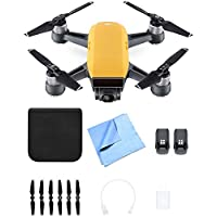 DJI CP.PT.000732 SPARK Intelligent Portable Mini Drone Sunrise Yellow Battery Bundle