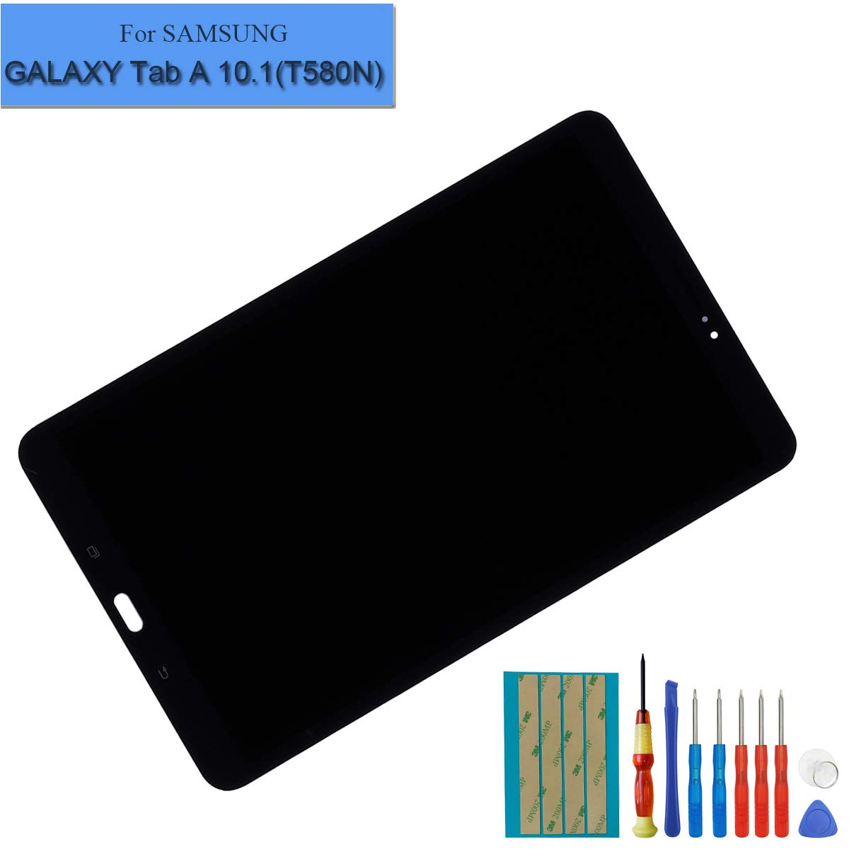 Black LCD Display Assembly Compatible with Samsung Galaxy Tab A 10.1 2016 SM-T580 T585 T587 Touch Screen Digitizer + Tools