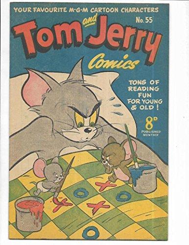 Tom Jerry Comics #55 1950's Australian Tic-Tack-Toe Cover