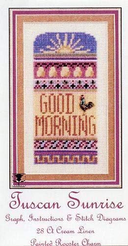 (Tuscan Sunrise Cross Stitch Chart, Fabric and)