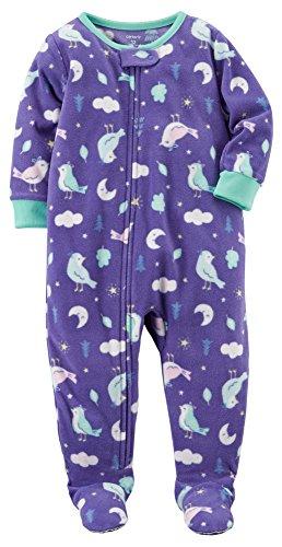 Solid Footed Sleeper Pajamas - 6