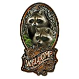 SignMission Welcome to Our Hideout Raccoon Novelty Sign | Indoor/Outdoor | Funny Home Décor for Garages, Living Rooms, Bedroom, Offices Personalized Gift Wall Plaque Decoration