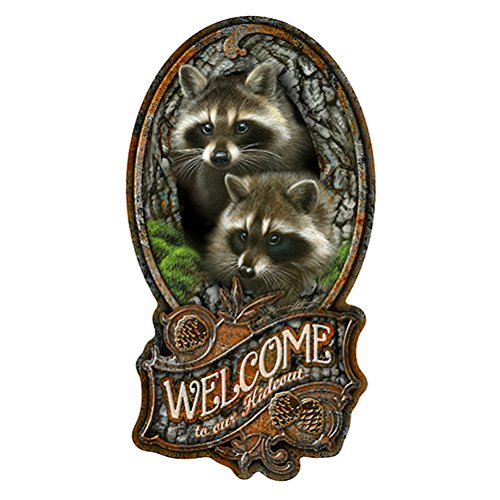 SignMission Welcome To Our Hideout Raccoon Novelty for sale  Delivered anywhere in USA