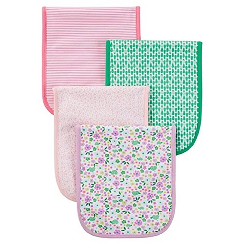 Just One YouTM Made by Carter's Baby Girls' 4-Piece Burp Cloth Set