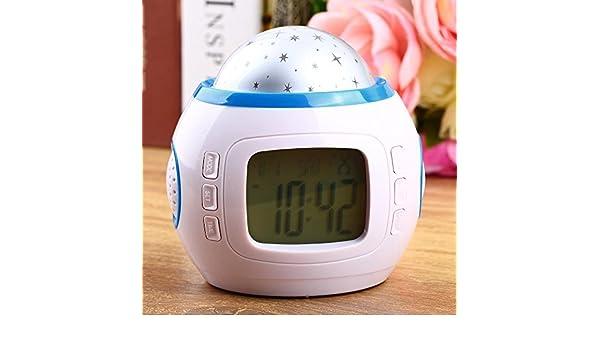 zhaojiewudi - Reloj Despertador Digital LED, Despertador, música ...