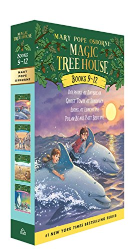 Magic Tree House Boxed Set, Books 9-12: Dolphins at Daybreak, Ghost Town at Sundown, Lions at Lunchtime, and Polar Bears Past Bedtime ()