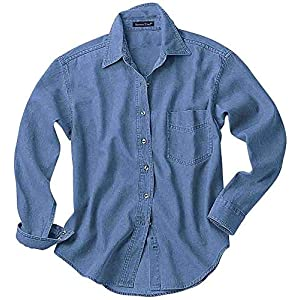 Women's Long Sleeve Denim Shirt Casual Shirt