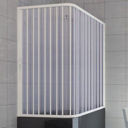 Mampara de ducha para bañera con anillo, PVC, 160 x 70 x 100 H ...