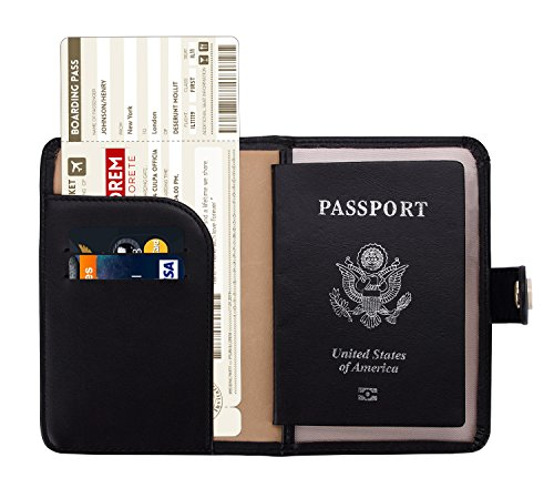 Zoppen Rfid Blocking Travel Passport Holder Cover Slim Id Card Case (#1 Black)