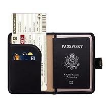 Zoppen RFID Blocking Travel Passport Holder Cover Slim Id CardCase