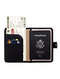 Zoppen RFID Blocking Travel Passport Holder Cover Slim Id Card Case (#1 Black)