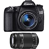 Canon EOS 70D 20.2 MP DSLR Camera with EF-S 18-55mm IS STM, Dual Pixel CMOS AF and EF-S 55-250mm f/4.0-5.6 IS II Telephoto Zoom Lens