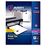 AVE11554 - Avery Print-On Dividers