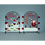 Premier Christmas Fireguard Novelty Screen With Tealight Candle Holders (Santa) by Premier