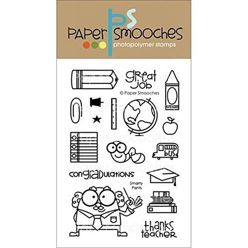Paper Smooches Clear Stamps, 4 by 6-Inch, Smarty Pants by Paper Smooches by Paper Smooches