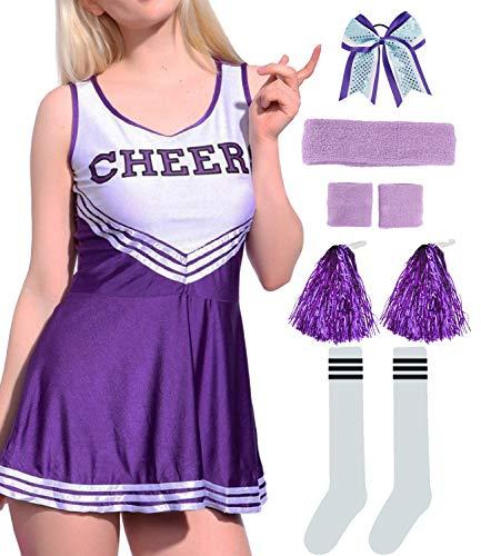 Women Musical Cheerleader Costume Uniform Fancy Dress