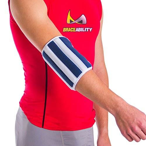 Cubital Tunnel Pain - BraceAbility Elbow Stabilizer Brace | Elbow Immobilizer Splint & Arm Straightener for Sleeping at Night to Treat Inflammation, Injuries, Fractures, Cubital Tunnel & Ulnar Nerve Pain (Large)
