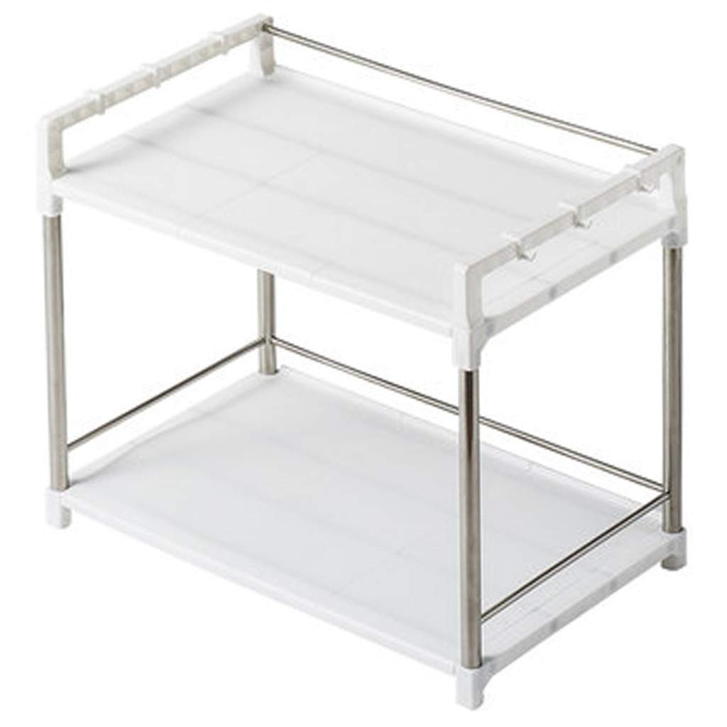 Kitchen Storage & Organization Accessories Rack Removable Kitchen Microwave Oven Floor Storage Rack Oven Rack Storage Rack 2 Layers 3 Layers Kitchen Appliances (Color : White, Size : 55.544.5cm)