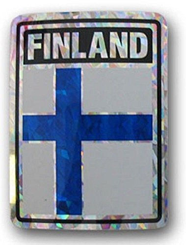 (ALBATROS (6 Pack) Finland Country Flag Reflective Decal Bumper Sticker for Home and Parades, Official Party, All Weather Indoors Outdoors)